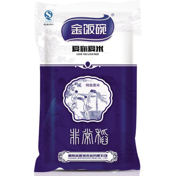 金饭碗非常稻大米 黑龙江五常稻花香 10KG有机大米 精品包装