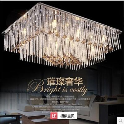 厂家批发 时尚奢华客厅led水晶吸顶灯 欧式方形 水晶灯 吸顶灯
