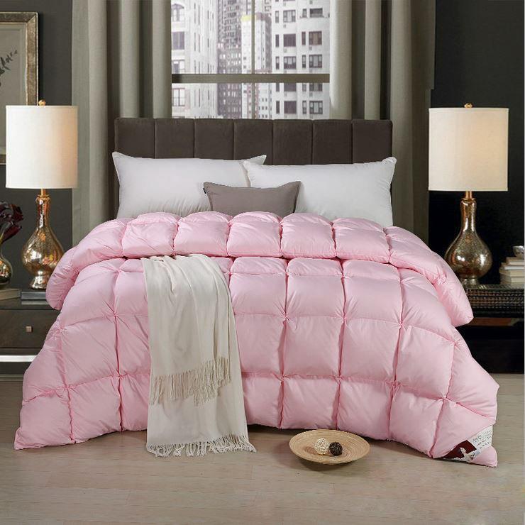 全棉粉色立体充绒羽绒被 宾馆酒店被芯 旅馆宾馆 冬被