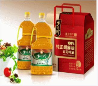 乡味珍低温冷榨2.5升低温冷榨亚麻籽油(礼盒装)来自祁连山高海拔地区