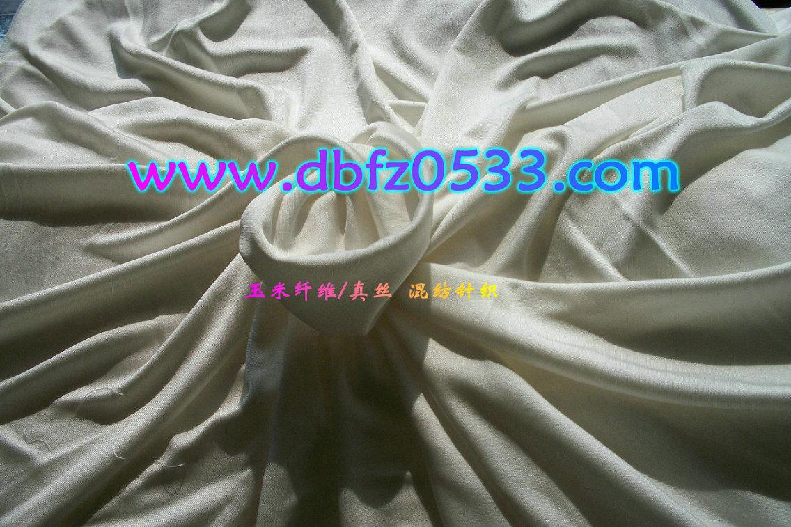(玉米)聚乳酸纤维/绢丝:混纺针织面料