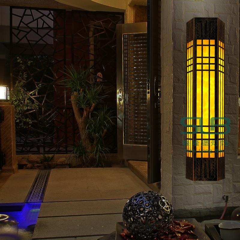 优质透光石壁灯仿云石迎宾壁灯梯形仿古壁灯现货厂家批售定制