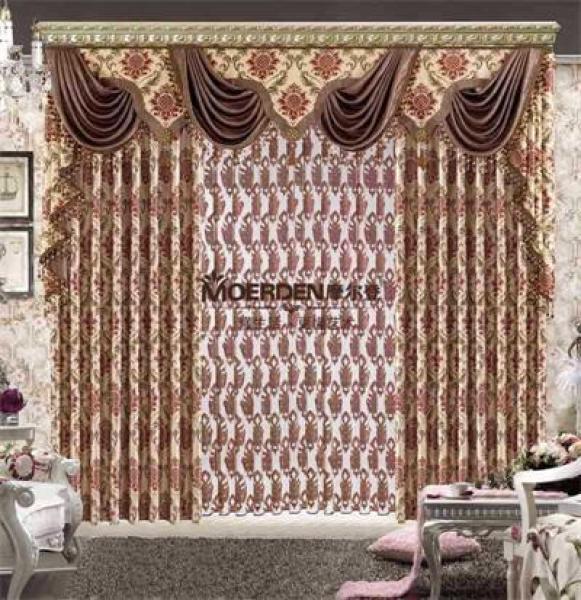 欧式窗帘遮光定做 高档豪华客厅/卧室/别墅窗帘价格
