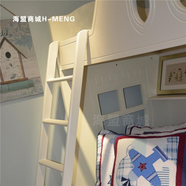 欧式实木儿童床上下床高低子母床梯子田园公主床韩式