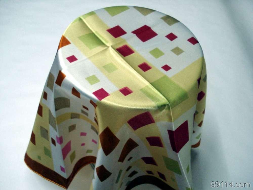 深圳专业丝巾定做 真丝方巾定做 礼品丝巾定做