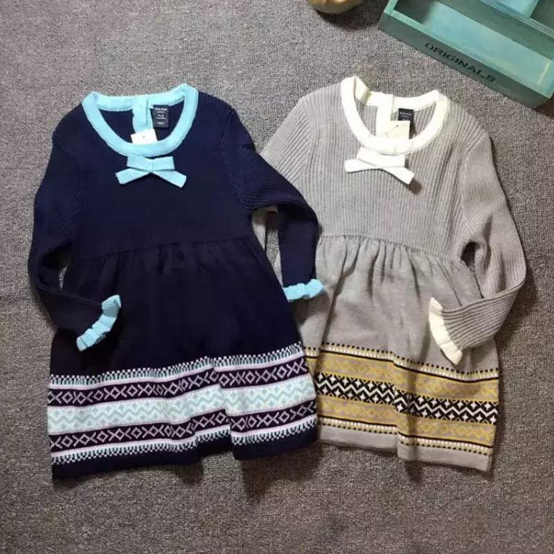 外贸原单童装 童装针织衫 儿童毛衣裙针织裙