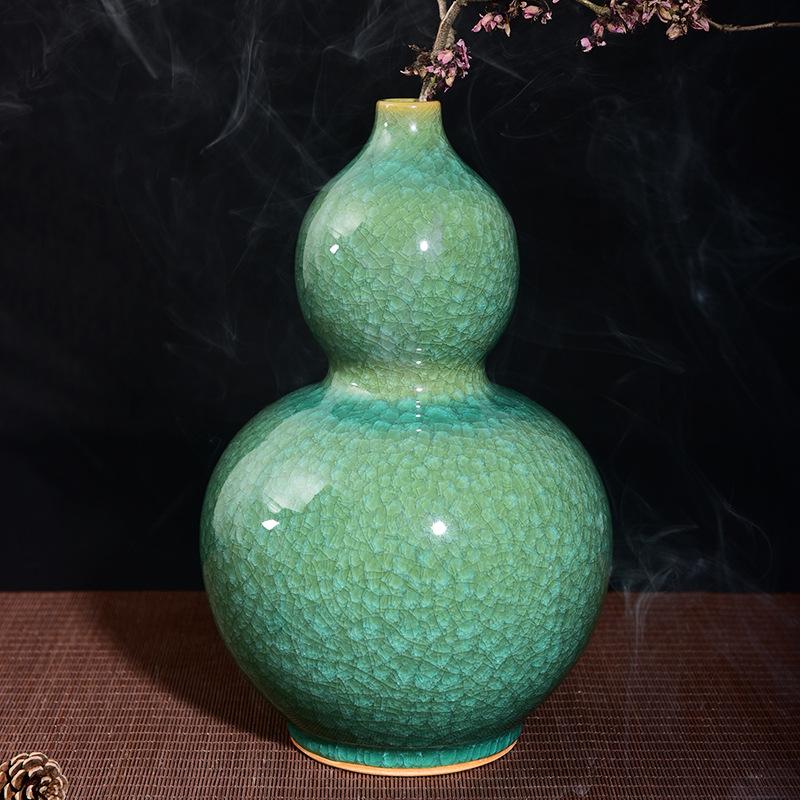 葫芦摆瓶 葫芦花瓶价格 景德镇花瓶厂 陶瓷花瓶定制 青瓷花瓶价格