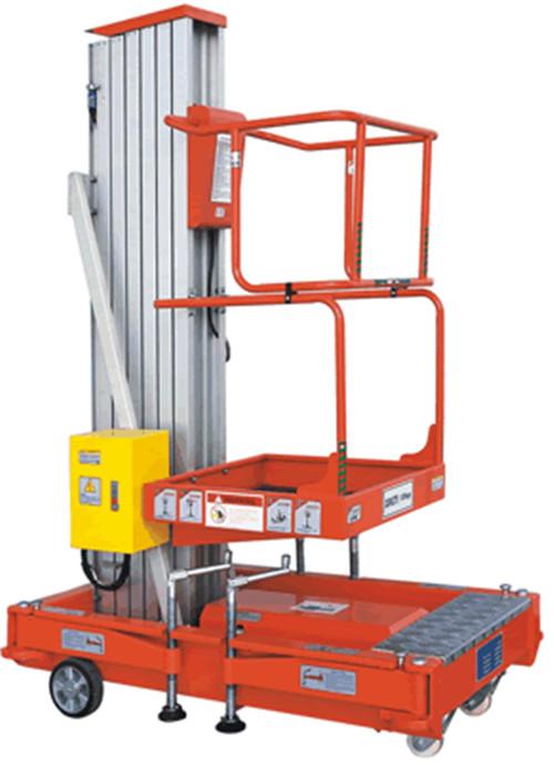 玛西尔 GTWY8 10 单桅柱铝合金高空作业平台