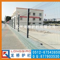 扬州小区护栏网 学校围墙护栏网 桃形柱护栏网 龙桥制造