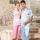 春夏季短袖女真丝套装重磅丝绸 睡衣两件套 睡袍休闲性感家居服代发