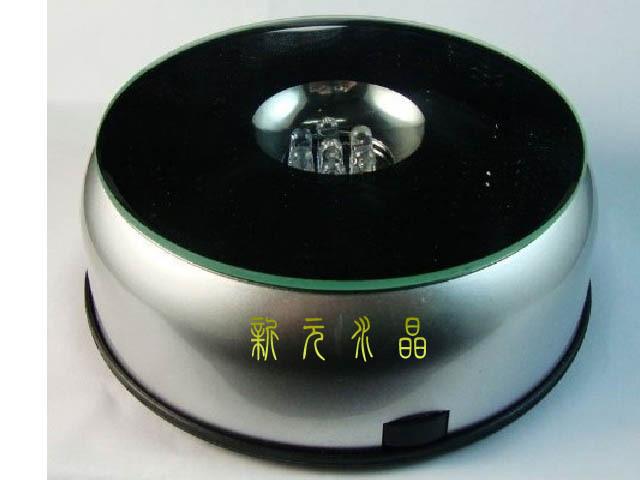 水晶灯座七彩旋转底坐 水晶音乐盒 工艺品旋转底座 特大号20cm