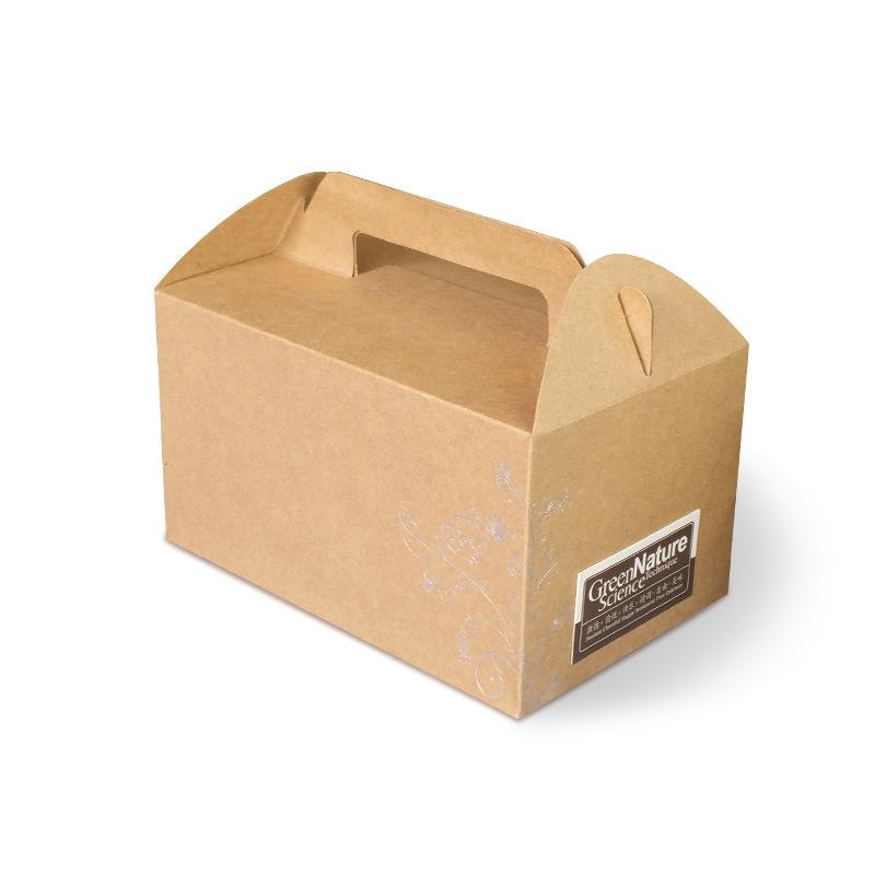 小蛋糕盒6寸慕斯西点盒牛皮纸芝士蛋糕卷点心面包甜品包装盒批发图片