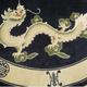 中国龙 蓝色底色 大气 真丝地毯 中国明清仿古风格 丝毯