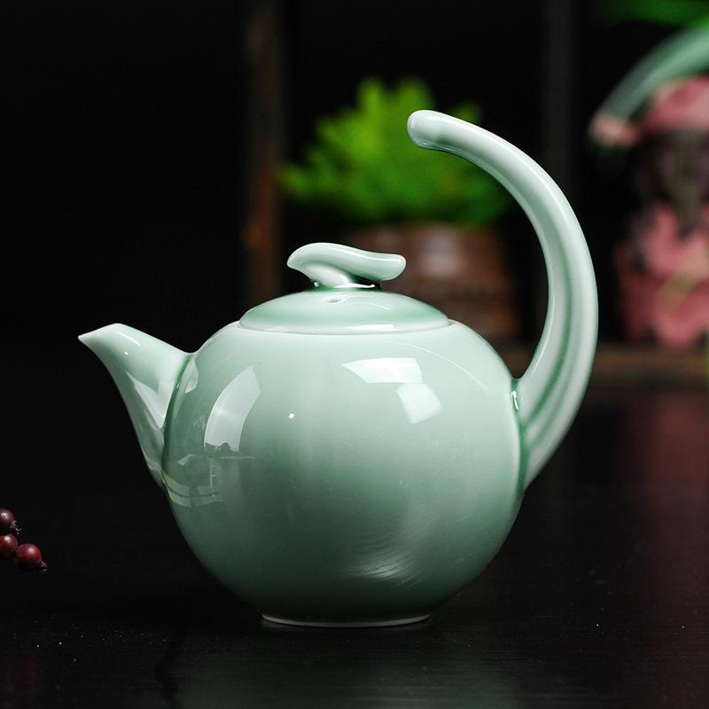 创意青瓷茶壶纯手工高档陶瓷工艺品广告促销送礼茶具套装礼品茶壶