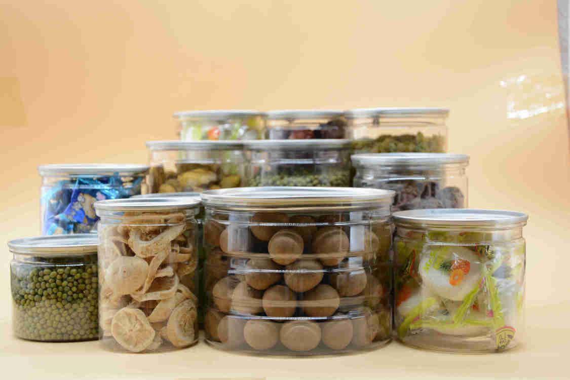广口食品塑料罐 花茶蜂蜜密封塑料罐 零食糖果pet透明塑料瓶批发