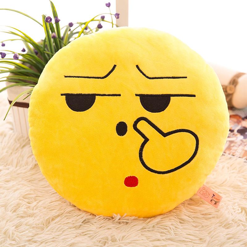 厂家批发新年爆款创意qq表情毛绒玩具抱枕靠垫公仔诚招代理