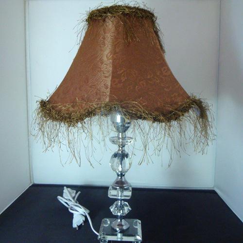 中式水晶台灯39客厅浪漫卧室床头调光灯具灯饰玻璃灯座