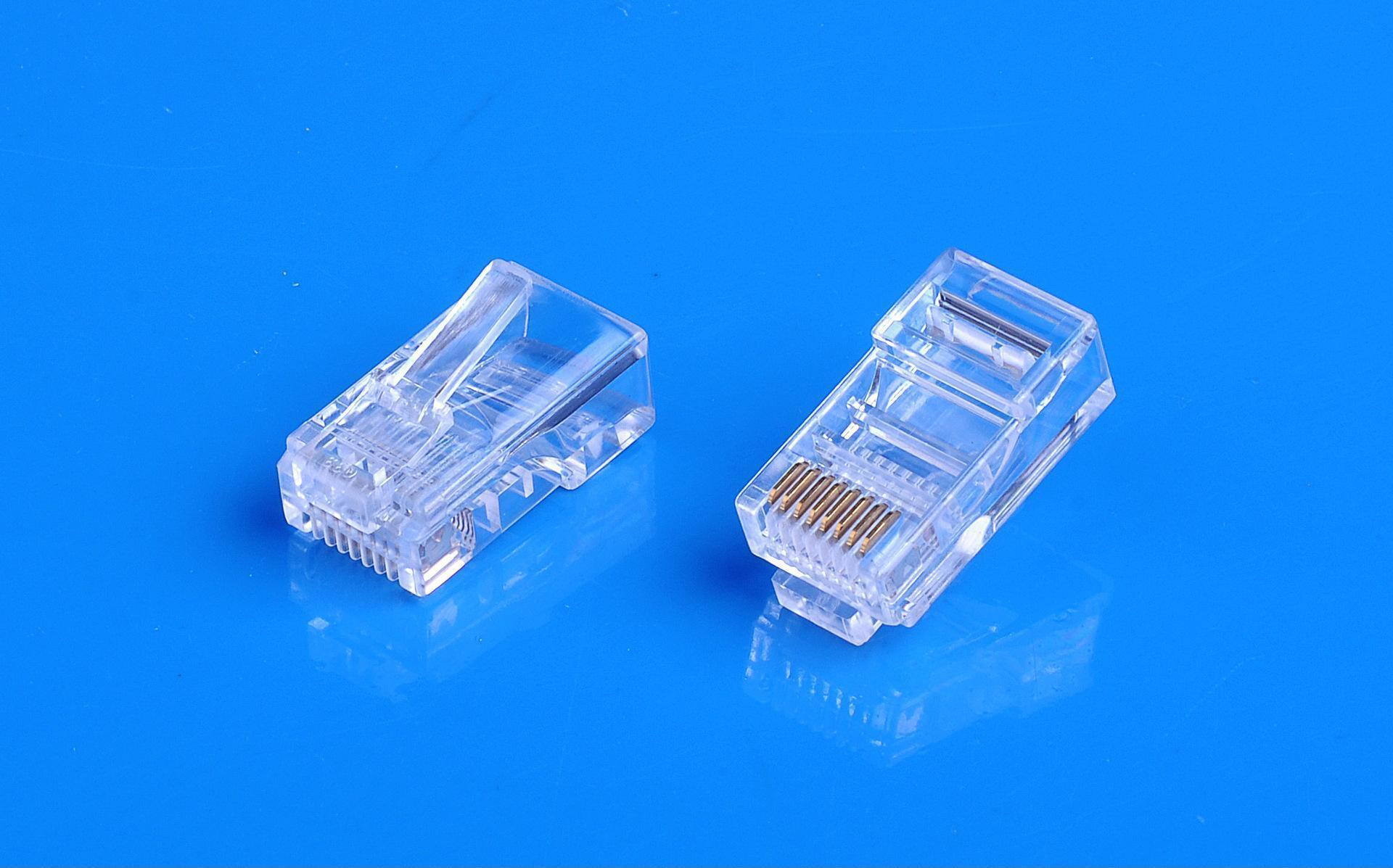 厂家供应rj45-cat5e 网线水晶头