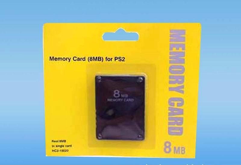 全新PS2记忆卡稳定全兼容不掉档 黑金刚8M记忆卡PS2存储卡