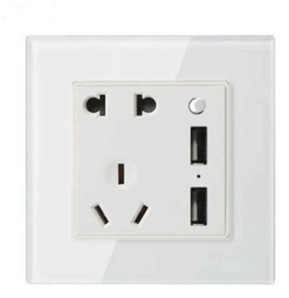智能插座双USB五孔带usb插座面板usb二三插墙壁开关USB充电插座