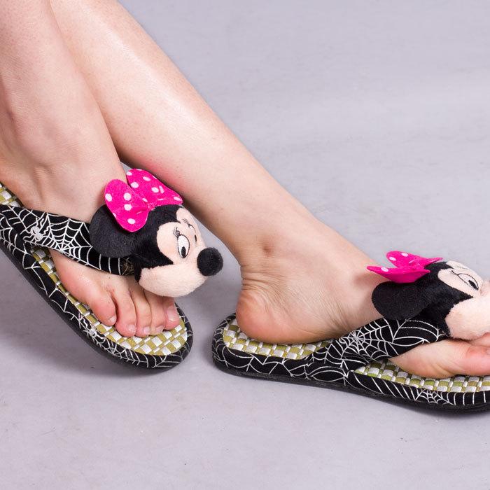 2双包邮出口可爱拖鞋家居礼品礼物玩具米老鼠凉拖人字室内凉拖鞋0
