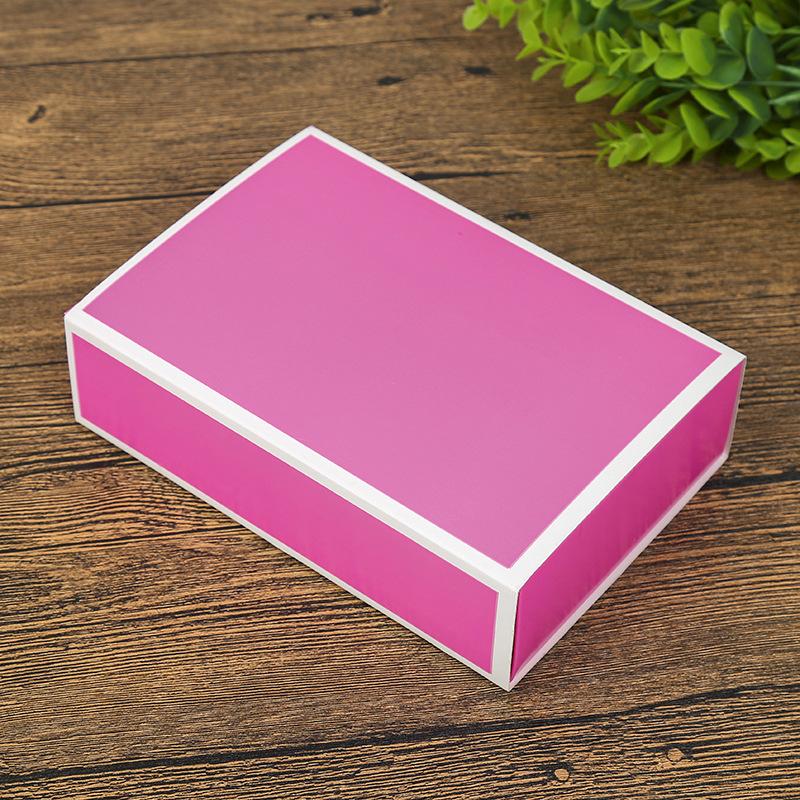 厂家 面膜化妆品包装空盒内裤礼品盒 袜子彩色纸盒定做logo图片