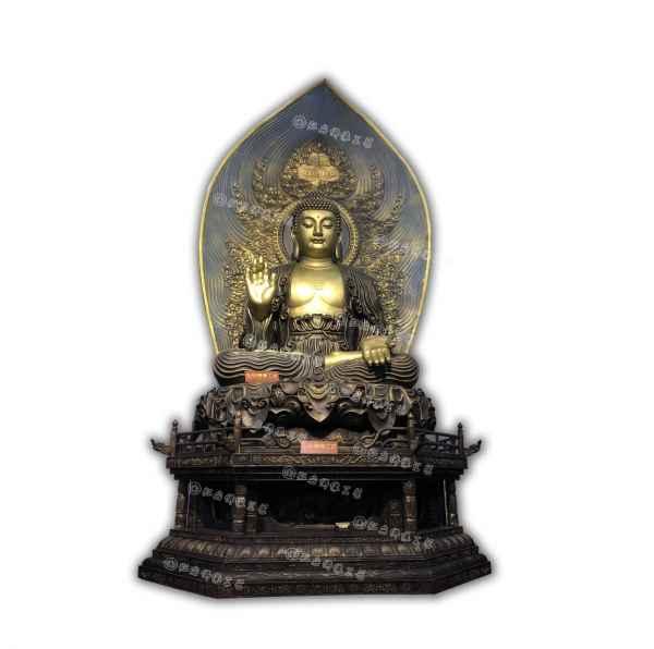 阿弥陀佛坐像仿古做旧佛像