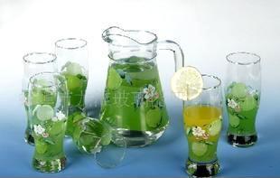 厂家供应玻璃水壶套装 玻璃杯水壶礼盒套具 玻璃茶具礼盒套装