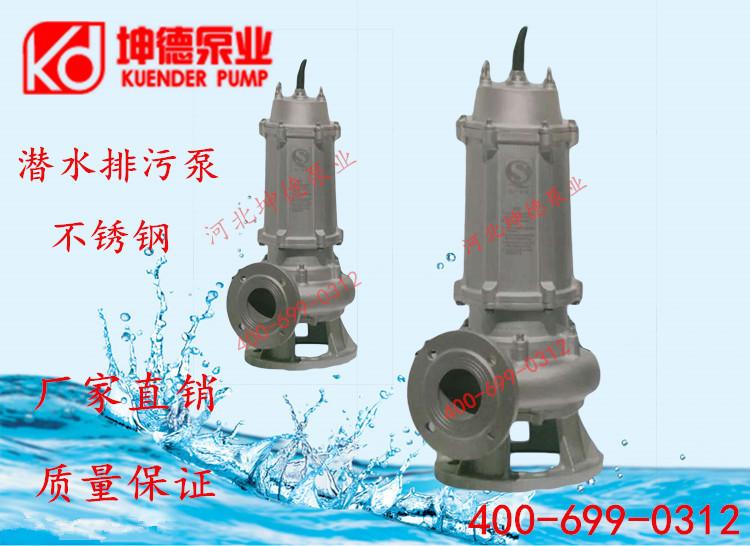 不锈钢潜水泵污水泵化工耐腐蚀家用工业用抽水泵304316材质