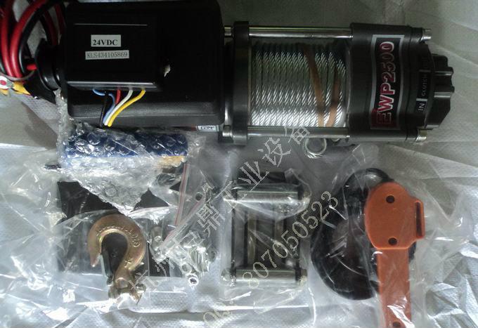 电动绞盘2500磅绞盘沙滩车绞盘12 24v卷扬机小吊机提升机