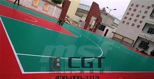 篮球场拼装地板高清图 广州绿城
