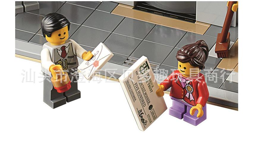 乐拼15001硅胶娃娃brickbank益智拼装砖块玩3d银行积木实体真人图片