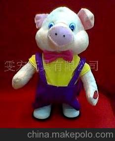 批发供应毛绒填充玩具,电动 新奇特玩具 背带走路猪图片