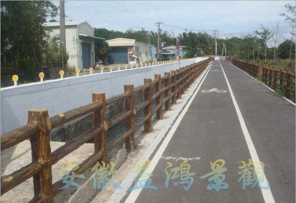 江苏无锡 仿木护栏 低价批发 水泥栏杆
