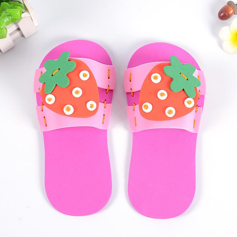 幼兒園益智玩具 手工diy制作eva拖鞋創意立體粘貼玩具廠家批發圖片