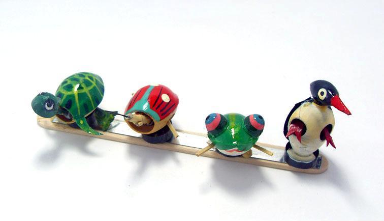 新品上市 手工制作民间工艺木偶 果壳创意