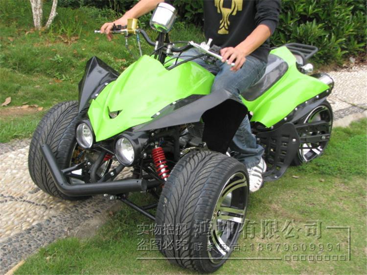 150cc大川崎倒三轮摩托车越野沙滩车全地形atv公路大跑车赛车14寸