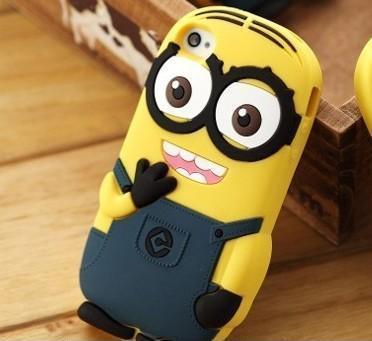 神偷奶爸热卖小黄人 苹果iphone4 4S 5硅胶套手机保护壳 卑鄙的我