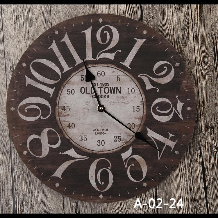 工艺挂钟木质 欧式简约创意挂钟 创意数字图片