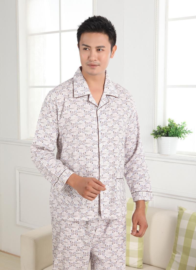 夏季,秋季,冬季    特价男式睡衣梭织纯棉质春秋款长袖长裤莫代尔男士