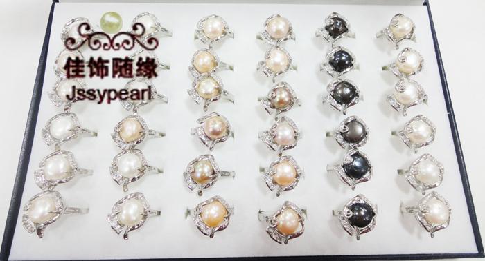 供应珍珠戒指 畸形珍珠戒指 韩版饰品批发珍珠戒指  JZ-003
