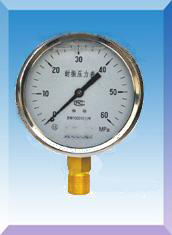 不锈钢壳耐震压力表YN-40 50 60 75 100 150