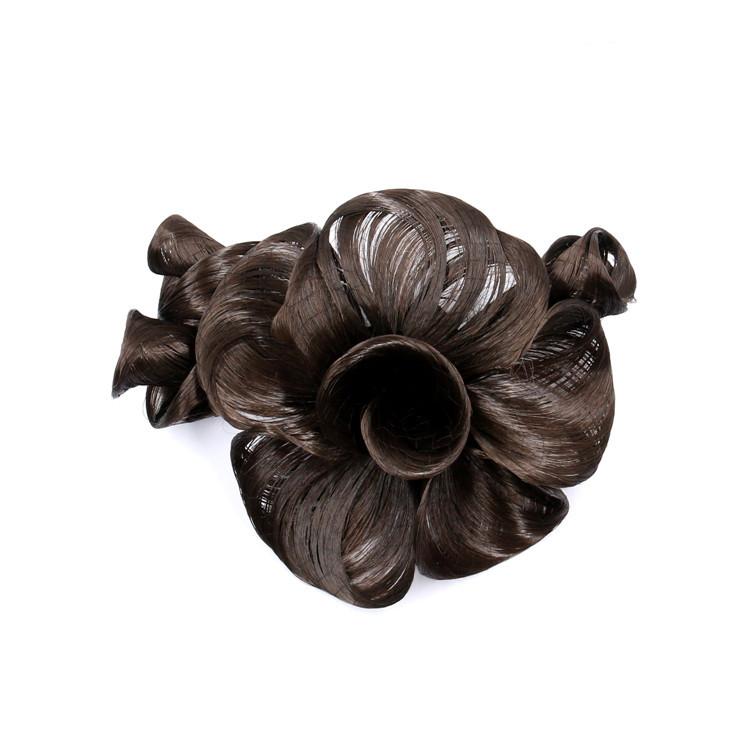 厂家直销 假发造型花饰品花 时尚盘发头花 女 花苞假发夹子卷发