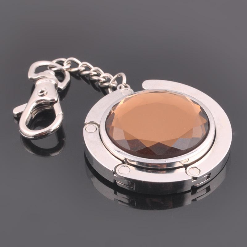 金属带钻挂包钩 水晶便携式挂钩 桌边钻石挂钩挂包扣水晶贴片挂包