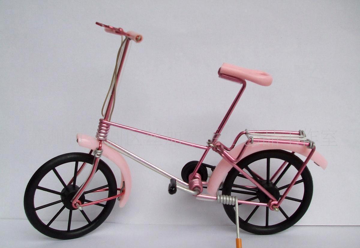 供应丝加车手工艺品 全手工老式自行车模型