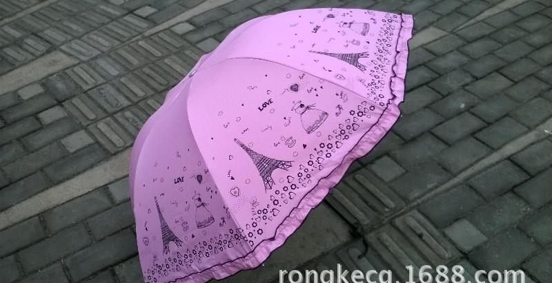 热销供应 铁塔卷边太阳伞 上海优质晴雨伞
