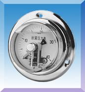 电接点轴向带边防震压力表