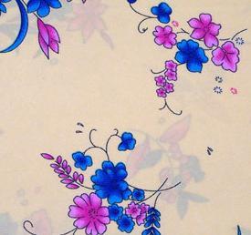 全棉化纤类染色印花服装面料