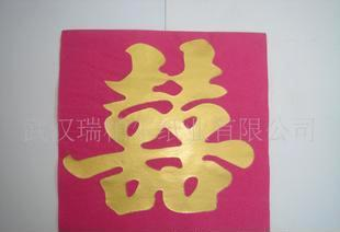 生产供应烫金烫画纸巾 染色彩色餐巾纸0