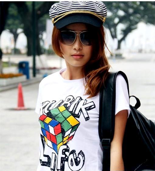 永远有货2013年女夏装新款t恤女士短袖李孝利同款宽松版版体恤b13